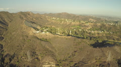 Aerial Shot of Hollywoodland and Hollywood Sign - stock footage