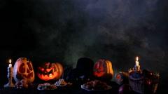 Jack O'lantern Eating Sweets Stock Footage