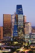 Dallas Skyline at Dusk, Texas, USA Kuvituskuvat