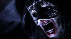 Undead Unleashed | Close up of dark looming figure out for blood! Stock Footage