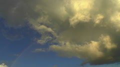Swirling Cloud Rainbow Sunset Time Lapse Stock Footage