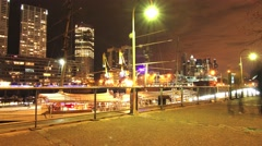 Stock Video Footage of Nightly scene in Puerto Madero in Buenos Aires