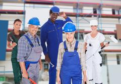 people representing diverse professions - stock photo
