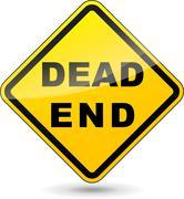 Vector dead end sign Stock Illustration