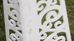 Decorative stand Stock Footage