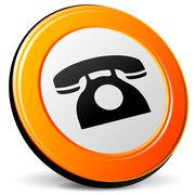Vector wired phone icon Stock Illustration