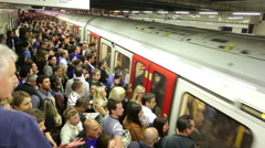 Buy London underground subway station time-lapse Stock Footage