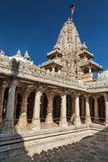 Jain temple in Ranakpur. Rajasthan, India - stock photo