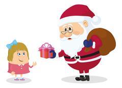 Santa claus and girl Stock Illustration