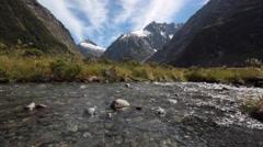 TE ANAU MILFORD SOUND ROAD NEW ZEALAND Stock Footage