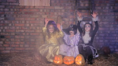 Halloween Witching Casting Stock Footage