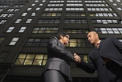 Business People Shaking Hands, New York City, New York, USA Stock Photos