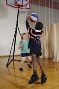 Kids Playing Basketball - stock photo