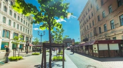 Minor Stables street Saint Petersburg Time Lapse - stock footage