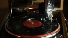 Stock Video Footage Gramophone Phonograph - stock footage