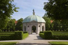 Pavilion for the Goddess Diana, Hofgarten, Munich, Germany Stock Photos