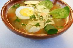 soup on white - stock photo