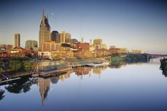 Cityscape and River, Cumberland River, Nashville, Tennessee, USA Kuvituskuvat