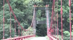 Ning-an Bridge Bridge in Taroko National Park Stock Footage