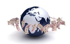 global business mexican pesos - stock illustration