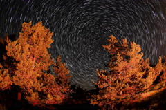 4K. Time lapse of stars behind mountain Tarahtash, Yalta, Crimea Stock Footage