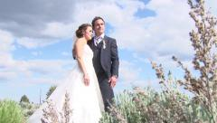 Loving Bride and Groom Portait Stock Footage