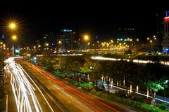 saigon city at night - stock photo
