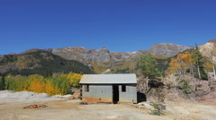 Abandoned Gold Mine Shack Colorado Ouray San Juan Mountains Stock Footage
