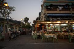 Restaurant Patio, Cheung Chau, China Stock Photos