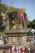 Altar, Chuk Lam Sim Yuen Monastery, New Territories, Hong Kong, China Stock Photos