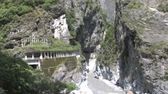Sunny Taroko National Park Stock Footage