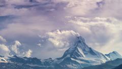 Time lapse of the Matterhorn, Switzerland Stock Footage