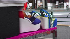 Platfrom Shows On Display At Fashion Store Streets Of Harajuku Tokyo 4K Stock Footage