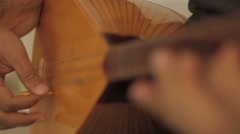 Stock Video Footage of Saz Player From Turkey , Baglama, Instrument , Etnic Music, Folk Music, Turkish