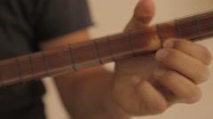 Saz Player From Turkey , baglama, instrument Stock Footage