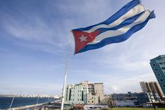 Cuban Flag, Havana, Cuba Stock Photos