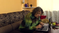 preoccupied grandma research computer buttons function - stock footage