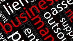 Animated Business Words - 4K Resolution Ultra HD Stock Footage