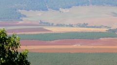 Valley of Jezreel from Mt. Gilboa, site of the Battle of Armageddon - stock footage