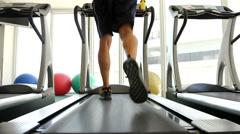Man on Treadmill Stock Footage