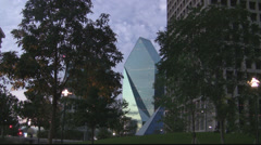 Park In Center Of Downtown Dallas Stock Footage