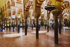 Stock Photo of Moorish Arches and Columns, Mezquita, Cordoba, Andalucia, Spain