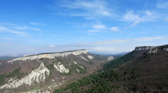 Cave city Mangup-Kale, Crimea, Russia, Full HD Stock Footage