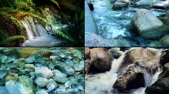 Rivers And Streams Montage Stock Footage