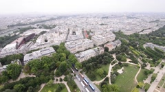 Paris, France. Beautiful city skyline Stock Footage