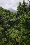 Arenal Volcano and Rainforest, Costa Rica - stock photo