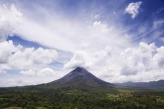 Arenal Volcano, Arenal Volcano National Park, Alajuela, Costa Rica - stock photo