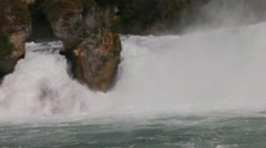 Particular of the majestic Rhine Fall Stock Footage