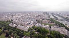 Paris, France. Beautiful city skyline Stock Footage