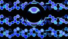 Looping Hexagon Tech Abstract with ocular effect - 4K Resolution Ultra HD Stock Footage